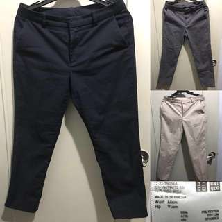 Uniqlo Dry Cropped Stretch Pants Size 64 (waist) 3 pieces