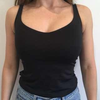 Tight Black Singlet Top