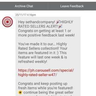 (10th) Thank You My Buyers And Co-sellers! Thanks Carousell!