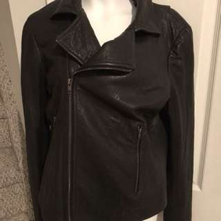 Theory leather jacket size small like aritzia
