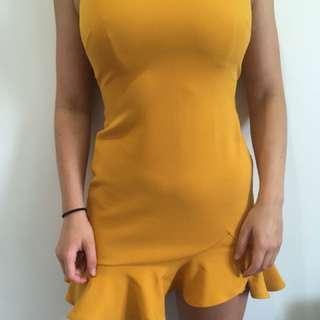Mustard Frill Dress