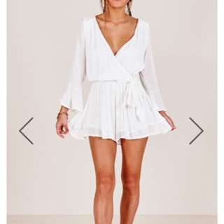 White playsuit size 12