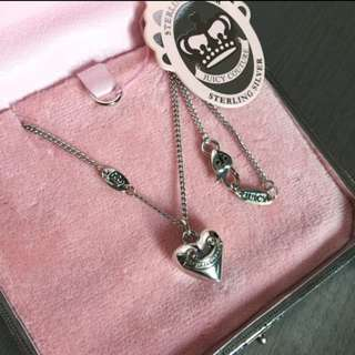 (NEW) Juicy Couture 925 Silver Necklace 心心純銀頸鍊