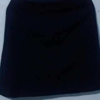 Navy Plisket A Skirt, Office Skirt