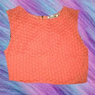 WILD ORCHID ORANGE CROP TOP SMALL