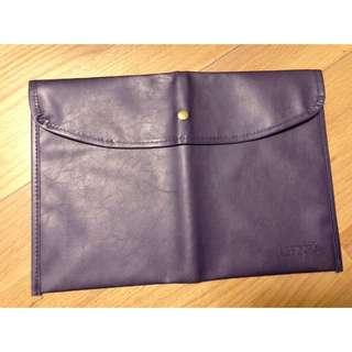 日本雜誌贈品 A4 藍色皮 文件袋