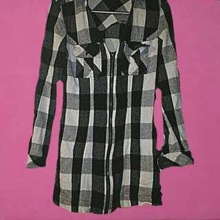 bardot flannel dress xs