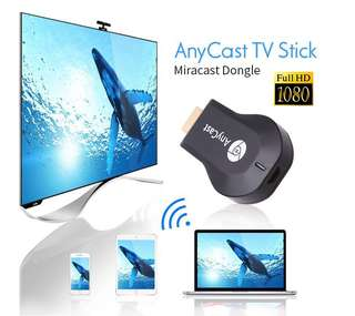 HDMI AnyCast M4 Plus 1080P Wireless WiFi same screen device Miracast CPU AM8252 phone projection TV transmitter Android IOS WIND