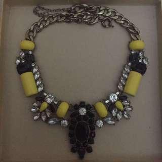 jcrew yellow necklace
