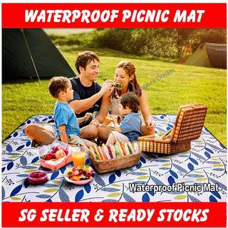 Picnic Mat / Blanket Beach Outdoor Waterproof Garden Folding Travel Largest In Market 200X195cm