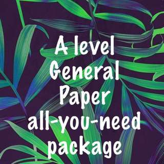 A Level General Paper ALL YOU NEED PACKAGE