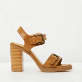 SPURR Tan Block Heels Size 9 Tan