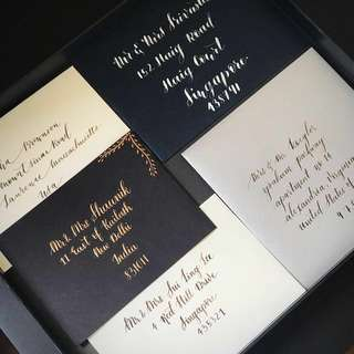 Hand calligraphed envelopes for any occasion