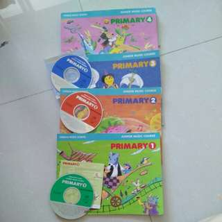 Yamaha junior music course books n CDs
