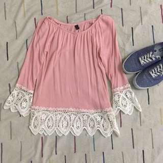 Pink Coachella Styled Blouse