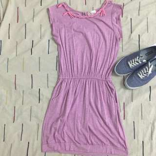 Purple Ragged Styled Dress