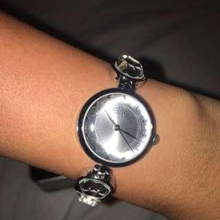 Elite Silver Tone Bracelet Watch