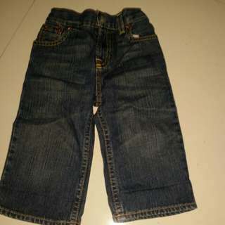 Baby branded jeans and shirt