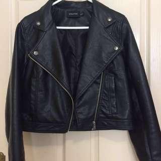MINKPINK PU leather jacket in BLACK