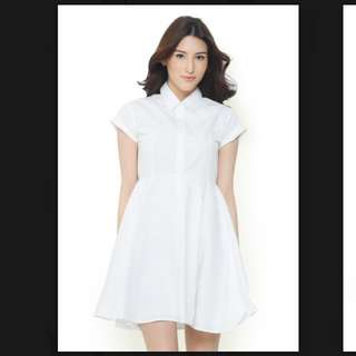 Lookboutiquestore white flare dress