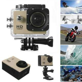 Full HD 1080P Sport Camera -Gold NEW