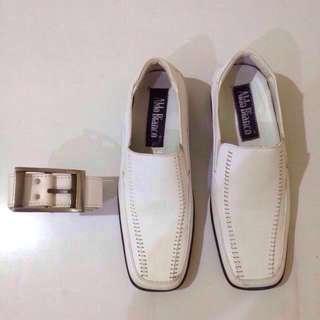Sepatu Formal Pria Merk Aldo Bianco + Free ikat pinggang
