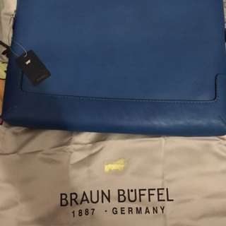 Authentic braun buffel full leather case 14 inch