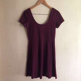 F21 BASIC MAROON DRESS