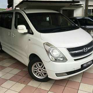 Hyundai Starex rental at Bukit indah