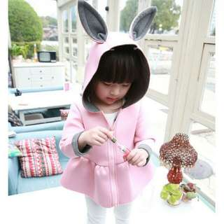 Toddler Rabbit Ears Hooded Coat 🐰