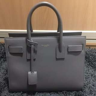 Authentic Saint Laurent Sac De Jour Baby in Fog
