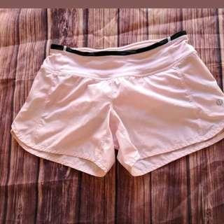 Lululemon Blush Quartz Pink Shimmer Sparkle Speed Shorts Size 2 RARE