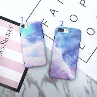 Instocks Brand New Artsy Watercolor Paining Style Blue Purple Pink 2 Designs TPU Soft Shell Full Coverage Mobile Hand HP Phone Case Casing Cover Apple IPhone 6/6S, 6/6S Plus, 7 & 7 Plus IPhone8 8Plus 8 (marble kinfolk asos)