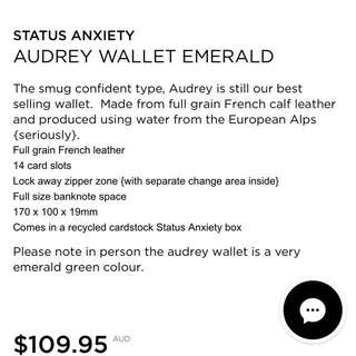 Status Anxiety Wallet Emerald
