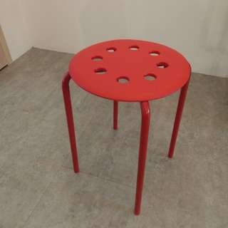 紅色板凳 IKEA MARIUS