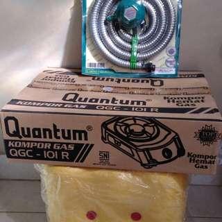 Kompor 1 tungku + regulator quantum