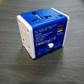 Travel Adaptor with 2 USB ports