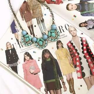 Bluish Jewel Necklace