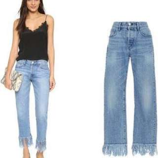 Zara fringed pants