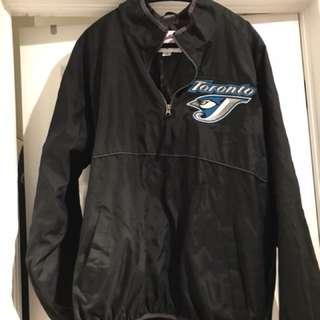 Authentic blue jays warm up jacket