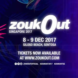 zoukout 2017 2 day tickets