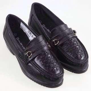 [現貨 黑款] 英國品牌 專櫃 英倫 復古 皮鞋 古著 街頭 小鬆糕 涼鞋 39號【#幫你省運費】