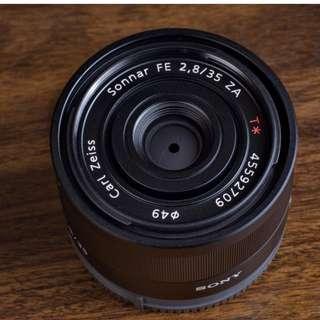 Sony Sonnar T* FE 35mm F2.8 ZA