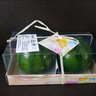 Watermelon design candle gift set