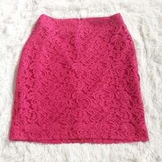 women's pink skirt
