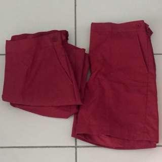 BN: Edgefield Pri School Uniform Short Pants 3pcs