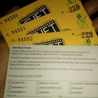Ayala movie tickets
