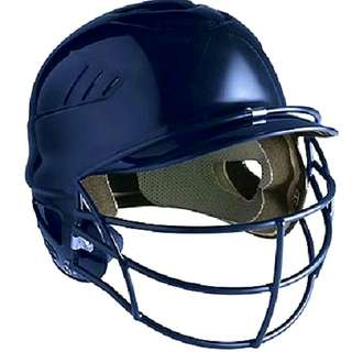 Rawlings Coolflo Batting Helmet with Faceguard - Dark Blue USED  The CFBHFG comes with a NOCSAE approved baseball faceguard already attached.