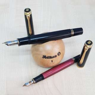 Pelikan M800 Black + M600 Red Stripes (bundled) Fountain Pen