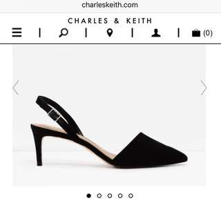 Charles and Keith EU40 US9 Pointed Sling back Heels